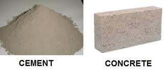 concrete vs cement | differences between concrete and cement