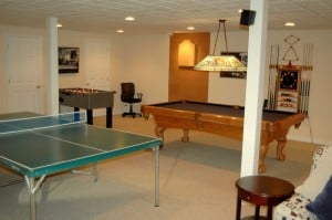 play zone in basement renovation