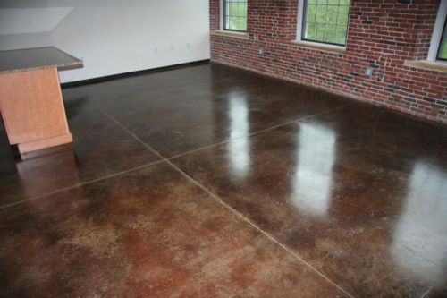 Staining concrete floors 4 steps to stain a concrete floor for How to care for stained concrete floors
