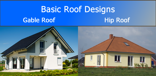 Difference between gable roof and hip roof for Rooftop designs
