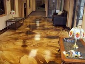 Acid Stained Concrete: Choosing Colors and Preparing Surface