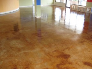 acid staining of concrete