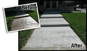 concrete repairing before and after