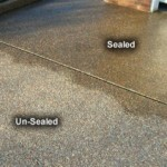 sealed and unsealed concrete