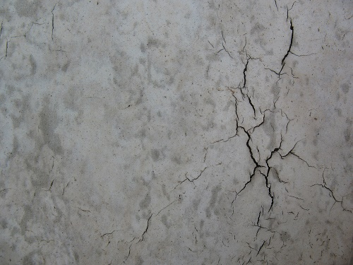 small concrete crack
