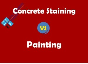 Concrete Stain vs Paint | What is The Difference Between Concrete Staining and Painting