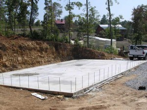 slab foundation on grade