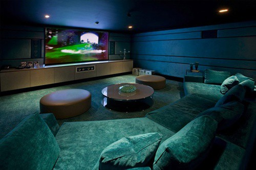 basement using as a media room