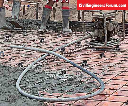 Needle Vibrators Used In Compaction In Construction Site
