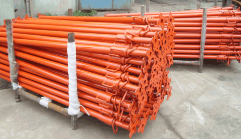 Scaffolding props for supporting concrete formwork