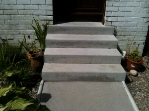 building concrete stair