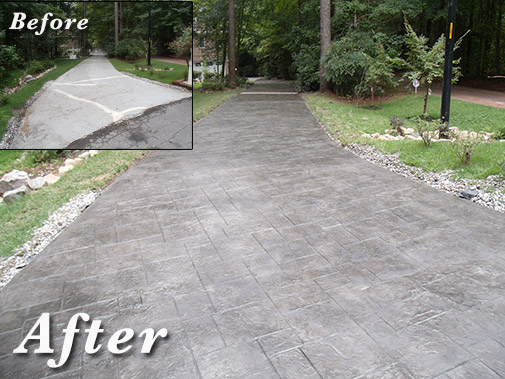 concrete overlaying