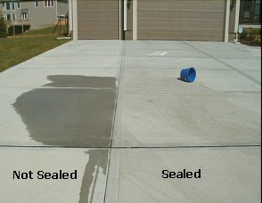 concrete sealing | before and after sealing concrete