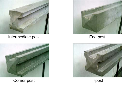different types of Concrete Fence Posts