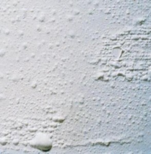 efflorescence - plaster defect