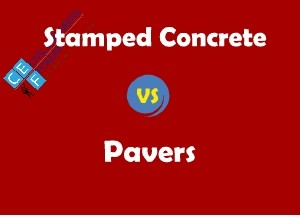 Pavers vs stamped concrete