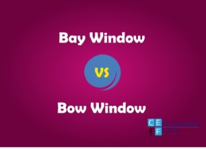 bay window and bow window difference