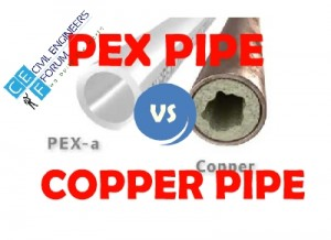 differences between copper pipe and pex pipe